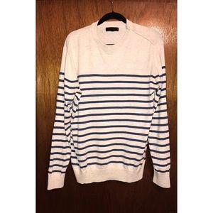 21 Men Cream Striped Sweater